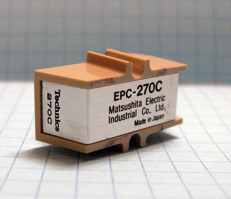 Головка звукоснимателя Technics EPC-270C (б/у), совместимая игла EPS-270SD (б/у)