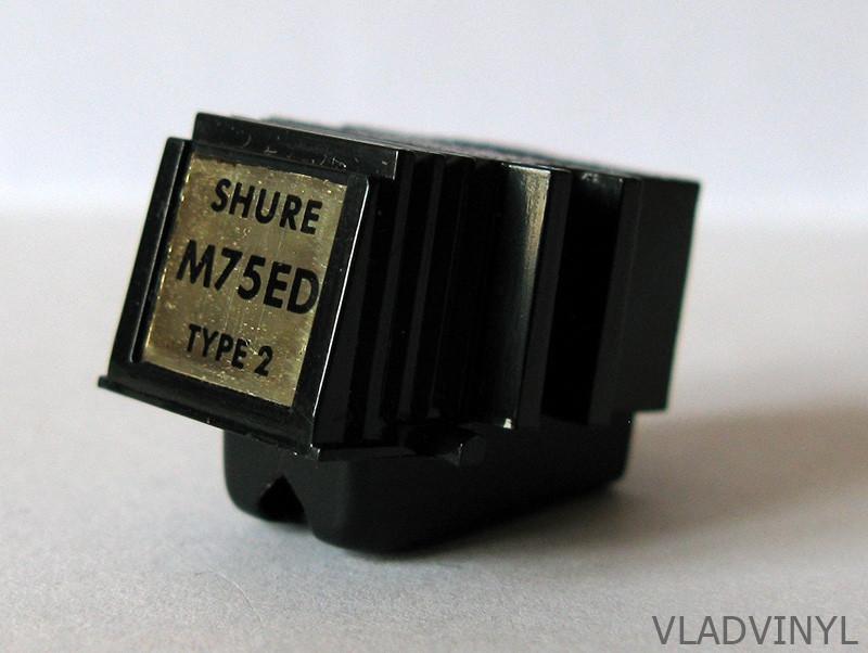 Головка звукоснимателя Shure M75ED Type 2, игла Shure N75ED (б/у)